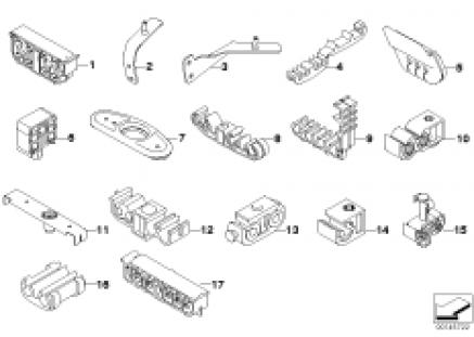 Brake pipe rear/mounting