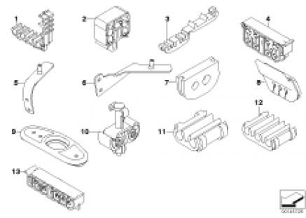 Front brake pipe / mounting
