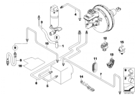 Brake pipe, front