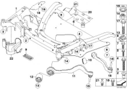 Frnt axle support,wishbone/tension strut