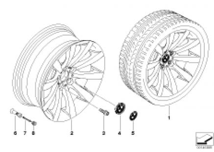 BMW LA wheel, star spoke 218