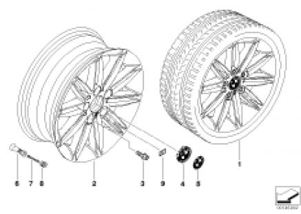 BMW alloy wheel, M double spoke 207