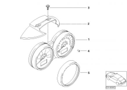 Double instruments, steering column