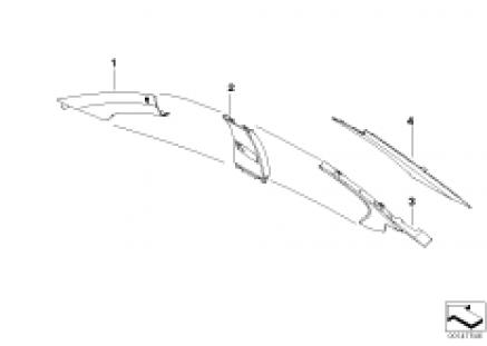 Individual A, B, C pillar covers, top