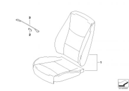 Leather retrofit basic seat front