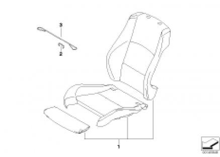 Leather retrofit sport seat front