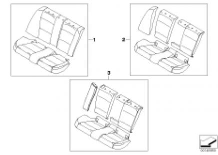 Leather retrofit rear seat bench