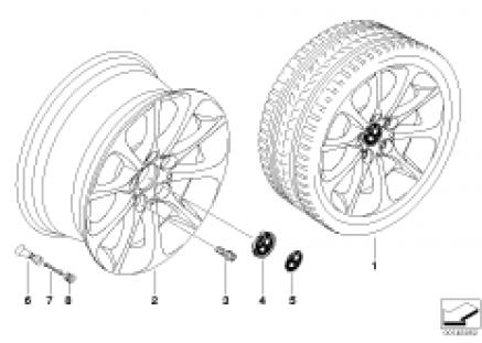 BMW LA wheel, star spoke 200