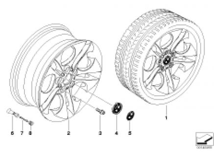 BMW LA wheel, ellipsoid styling 202