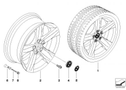 BMW LA wheel, star spoke 203
