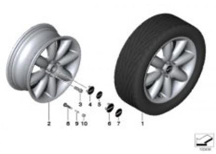 MINI LA wheel, S-spoke 85