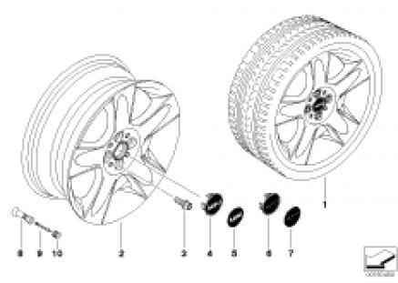 MINI alloy wheel 5-star 91
