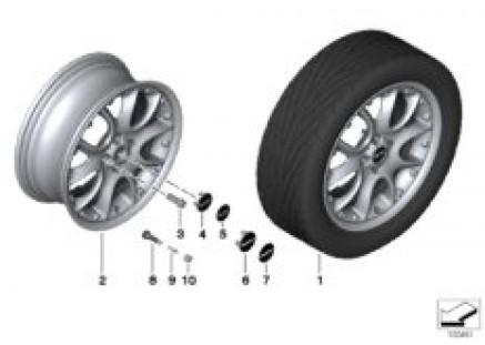 MINI compound wheel cross spoke 98