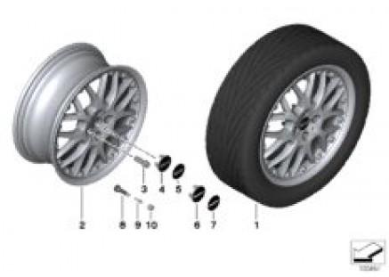 MINI LA compound wheel cross spoke 90