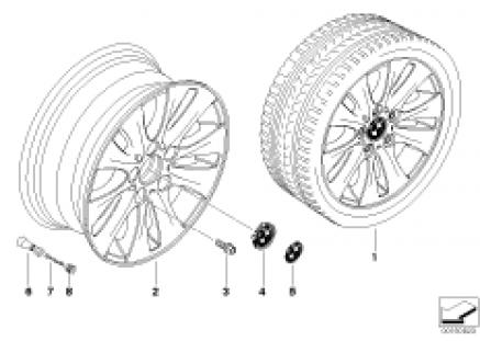 BMW light alloy wheel, V-spoke 229