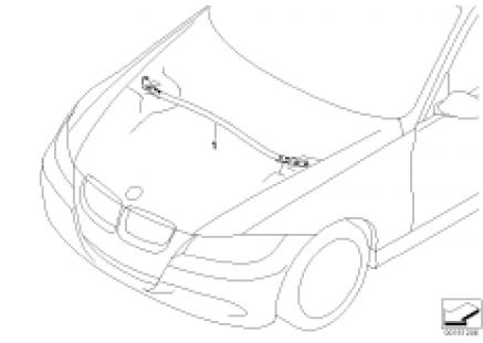 BMW Performance strut tower brace, alu