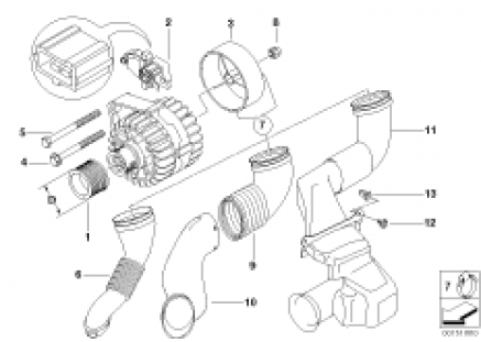 Generator single parts 120A Bosch