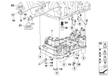 GA6F21WA control unit and mounting parts