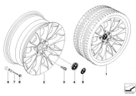 BMW light alloy wheel, V-spoke 188