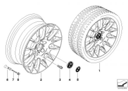 BMW light alloy wheel, radial spoke 216