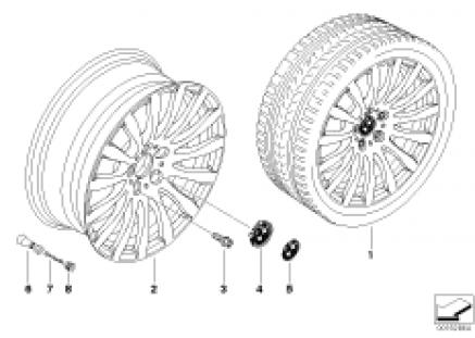 BMW LA cast wheel Radial Spoke 190