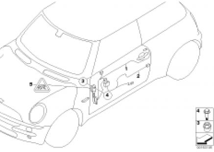 Door cable harnesses