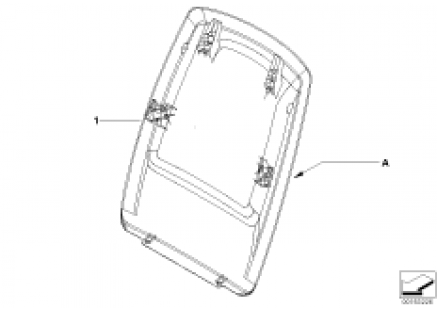 Indiv.rear panel, sports seat, leather