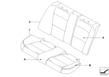 Indiv.cover basic seat, rear
