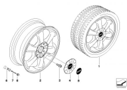 MINI alloy wheel, rotator spoke 101