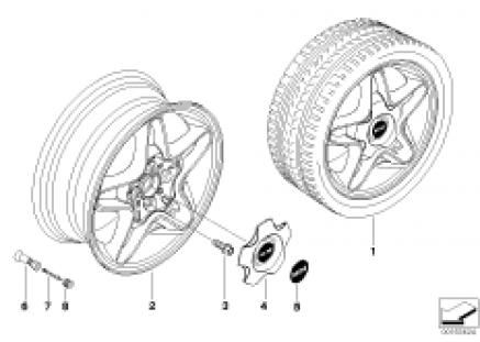 MINI alloy wheel S-Winder 102