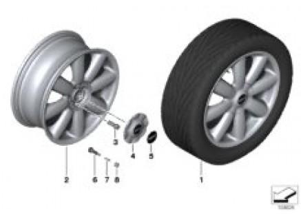 MINI LA wheel, Crown spoke 104