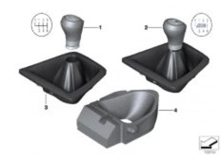 Gear shift knobs/shift lever coverings