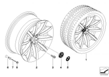 BMW LA wheel, star spoke 231