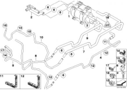Fuel pipe, Diesel pump