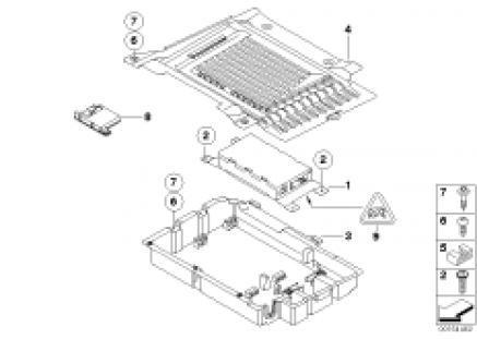 Single parts, Option 644 trunk/USB