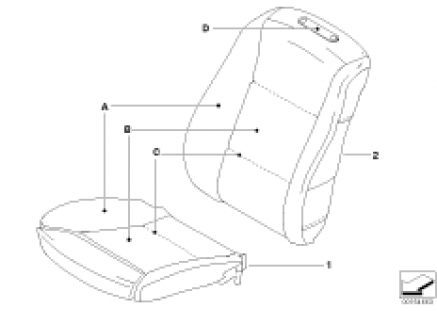 Indiv. cover for Comfort Seat, front, LC