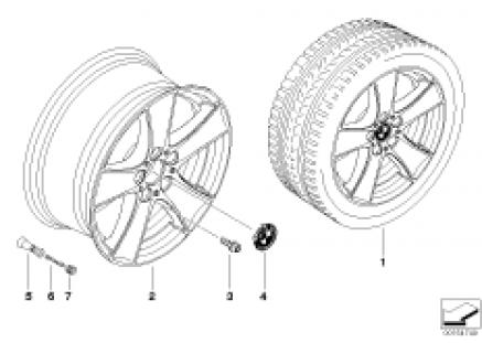 BMW LA wheel, star spoke 209