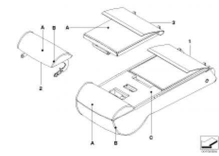 Individual armrest of rear basic seat