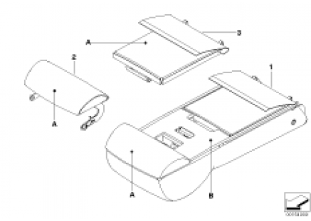 Individual armrest of rear comfort seat