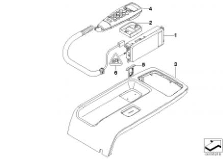 Individ. parts, Tandem car phone SA6NA