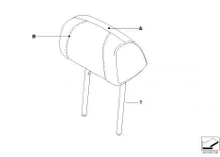 Ind. headrest, sports seat, rear
