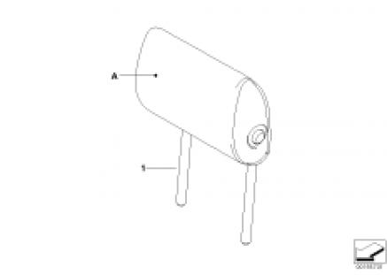 Individual folding headrests,center rear