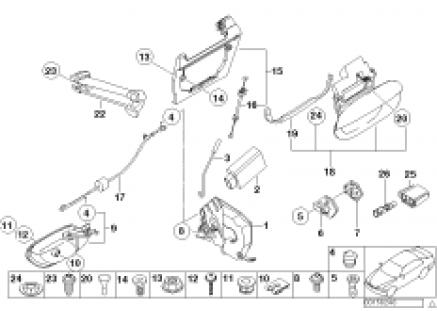 Rear door control/door lock