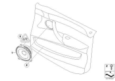 Single parts, Stereo System, door frnt