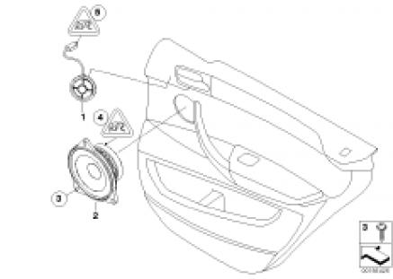 Individual Audio system, door rear
