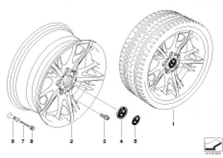 BMW LA wheel, star spoke 241