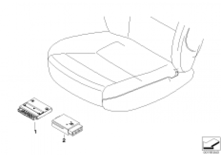 Control unit for driver seat