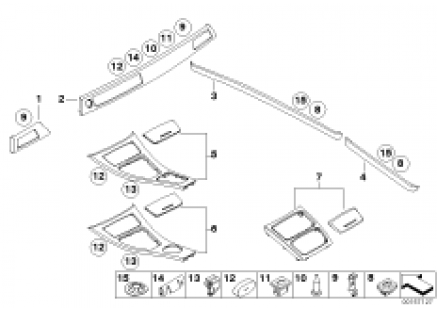 Alum. interior strips ground lengthwise