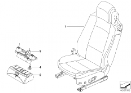 Seat, front, complete seat