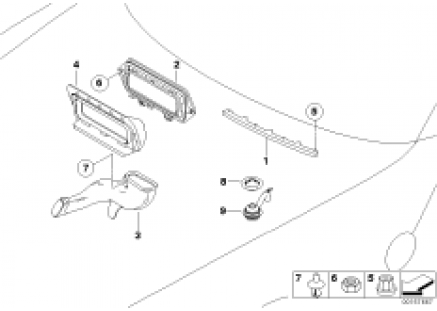 Add-on parts, heater/air conditioning